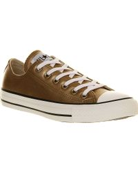 Converse All Star Metallic Low-Top Trainers - For Men - Lyst