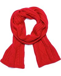 Gant Rugger - Cable Knit Scarf - Lyst