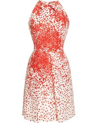 Giambattista Valli Printed Silkshantung Pleatfront Dress - Lyst