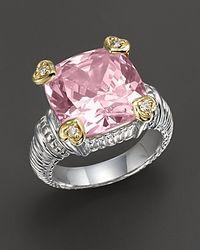 Judith Ripka Stone Heart Prong Ring - Lyst