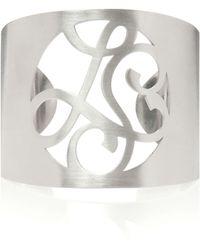 K Kane - 2-Initial Monogram Cuff Bracelet - Lyst