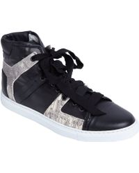 Lanvin Black Tejuseffect Hightop - Lyst