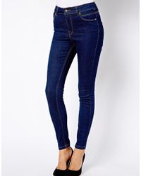 Asos River Island Raw Wash Lana Skinny Jeans - Lyst