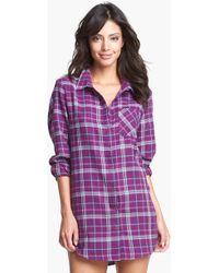 Make + Model Flannel Nightshirt - Lyst