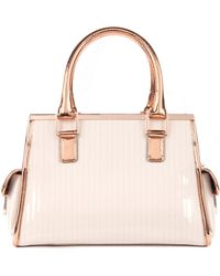 Ted Baker Quilted Patent Leather Tote - Lyst