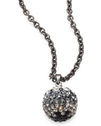 ABS By Allen Schwartz Pave Ombre Pendant Necklace - Lyst