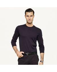 Ralph Lauren Black Label Cotton Crewneck Sweater - Lyst