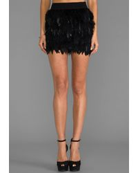 Blaque Label X Revolve Feather Skirt in Black - Lyst