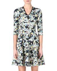 Erdem Floral V-Neck Fit-And-Flare Dress - Lyst