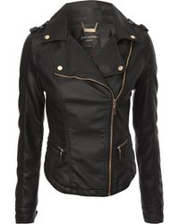 Jane Norman Fitted Biker Jacket - Lyst