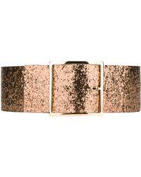 Maison Boinet Wide Glittered Belt - Lyst