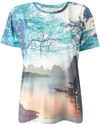 Mary Katrantzou Palma Printed Top - Lyst
