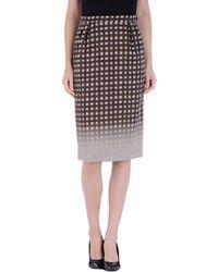 Maurizio Pecoraro Knee Length Skirt - Lyst