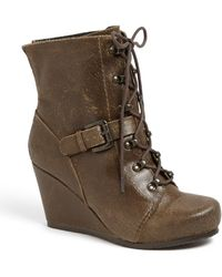 Otbt Rupert Distressed Leather Bootie - Lyst