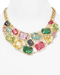 R.j. Graziano - Colour Luxe Geometric Statement Necklace 18 - Lyst