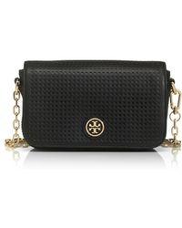 Tory Burch Robinson Perforated Adjustable Chain Mini Bag - Lyst