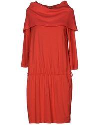 Twin-set Jeans Orange Short Dress - Lyst