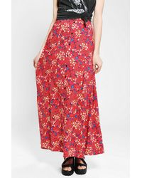 Urban Renewal - Button Front Maxi Skirt - Lyst