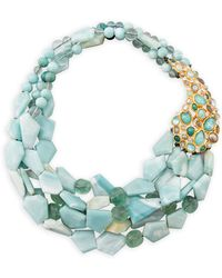 Alexis Bittar - Kiwi Cluster Multistrand Necklace - Lyst
