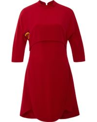 Azede Jean-Pierre - Red 4ply Crepe Open Back Dress - Lyst