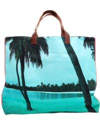 Dezso by Sara Beltran - Maldives Printed Canvas Tote Bag - Lyst