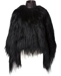 Givenchy Goat Fur Coat - Lyst