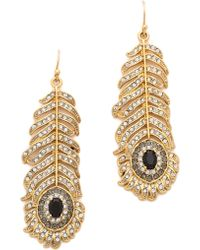 Juicy Couture - Feather Drop Earrings - Lyst