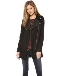 Juicy Couture - Wool Melton Moto Coat - Lyst