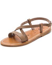 K. Jacques Flavia Crisscross Sandals - Pul Taupe - Lyst