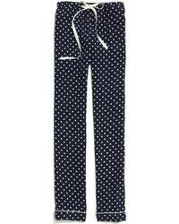 Madewell - Silk Pyjama Trousers in Domino Dot - Lyst