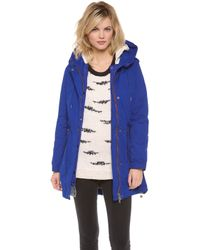 Maison Scotch - Parka with Removable Inner Layer - Lyst