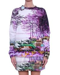 Mary Katrantzou Cotton Sweatshirt Harbour - Lyst