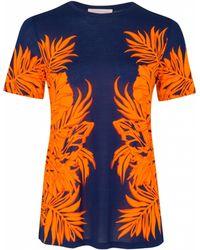 Matthew Williamson Leaf Print T-shirt - Lyst