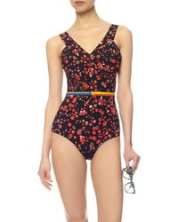 Preen Red Flower Lang Swimsuit - Lyst