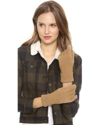 Rag & Bone Brown Adrienne Gloves - Lyst
