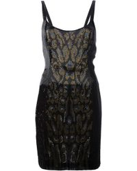 Roberto Cavalli Bead Embellished Fitted Tank Dress - Lyst
