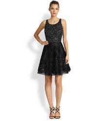 Sachin & Babi Embellished Lace Tulle Dress - Lyst