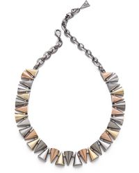 Sarah Magid - Mixed Metal Cone Necklace - Lyst