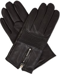 The Kooples - Bikerstyle Leather Gloves - Lyst