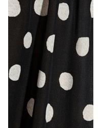 Tucker - Polka Dot Silk Crepe De Chine Trousers - Lyst
