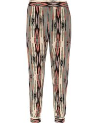 Tucker - Printed Silk Tapered Trousers - Lyst