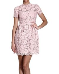 Valentino Dresses Short Sleeve Lace Round Neck - Lyst
