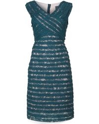 Adrianna Papell Crossover Bodice Banded Sheath Dress - Lyst