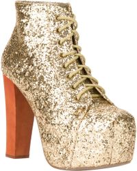 Jeffrey Campbell Lita Glitter Embellished Bootie - Lyst