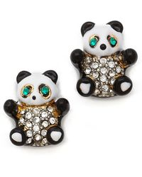 Juicy Couture - Panda Bear Stud Earrings - Lyst