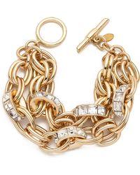 Lee Angel - Double Chain Rondelle Bracelet - Lyst