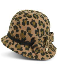 Patrizia Pepe - Animal Print Wool Hat - Lyst