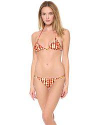 ViX Guarani Triangle Bikini Top - Lyst