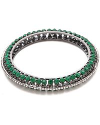 Adia Kibur Gemstone Bangle Bracelet - Lyst