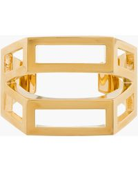 Chloé Gold Geometric Cut Out Bianca Cuff - Lyst